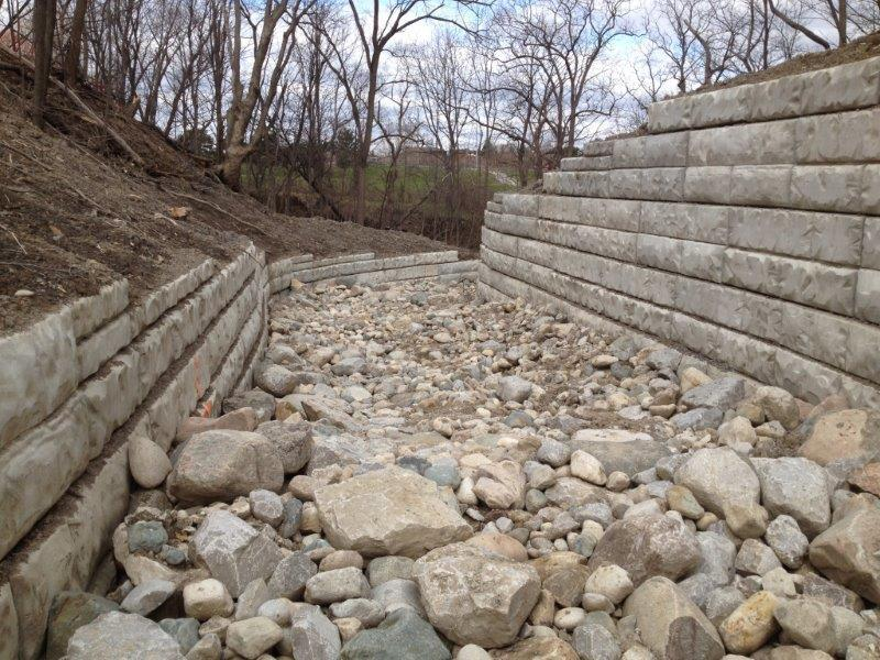 City of Hamilton, Robb Ave Outfall Channel – Retaining Wall