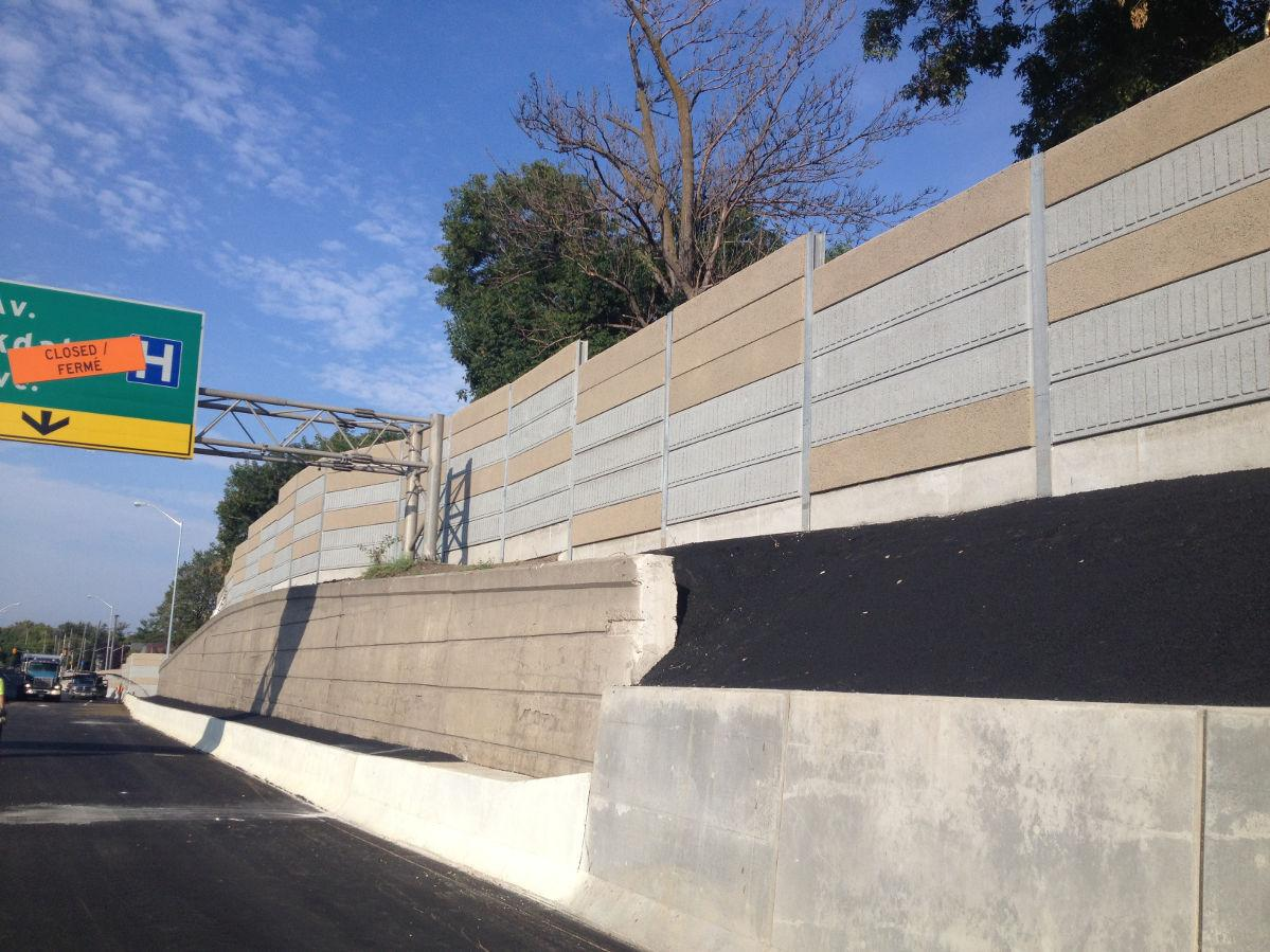 Hwy#417 & Parkdale Ave – Noise Wall